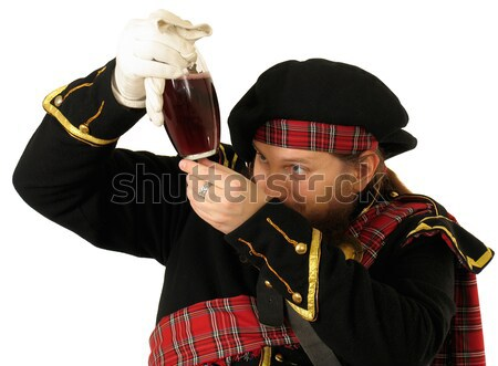 Scottish warrior with sword Stock photo © zastavkin