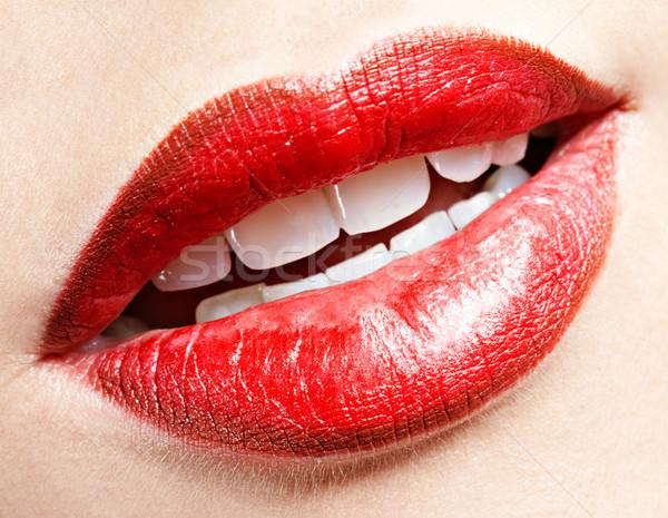 девочек губ макияж составляют женщину Сток-фото © zastavkin