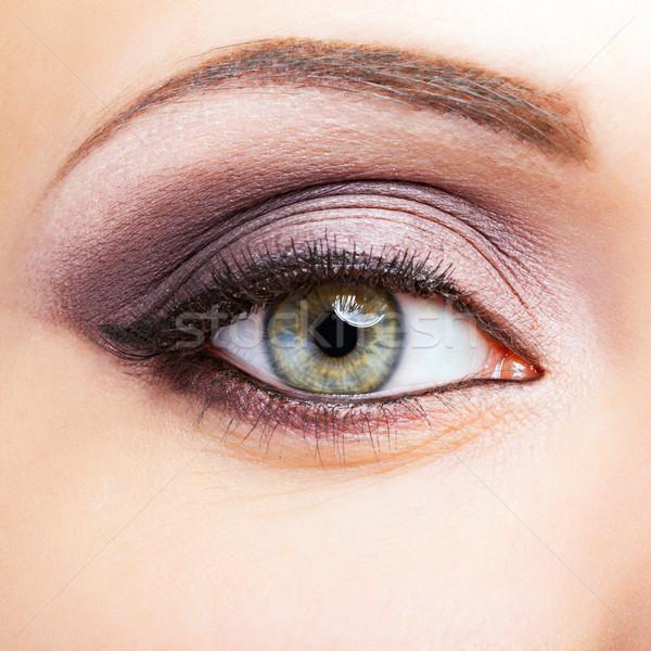 Atış kadın göz göz makyajı yüz Stok fotoğraf © zastavkin