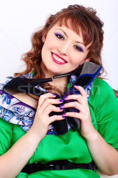 woman with court shoes Stock photo © zastavkin