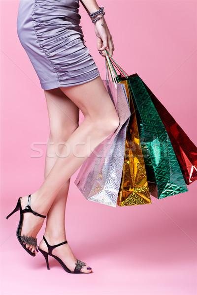 girl with shopping bags Stock photo © zastavkin