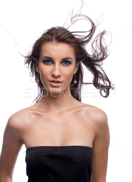 Stock photo: model with flattering hair