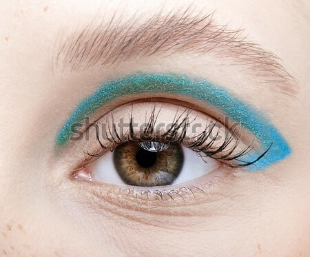 Dziewcząt makijaż portret piękna niebieski Zdjęcia stock © zastavkin