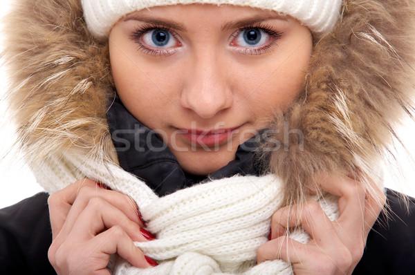 Menina inverno roupa jovem feminino modelo Foto stock © zastavkin