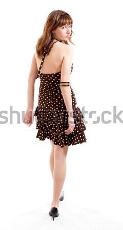 Menina jovem verão roupa isolado branco Foto stock © zastavkin