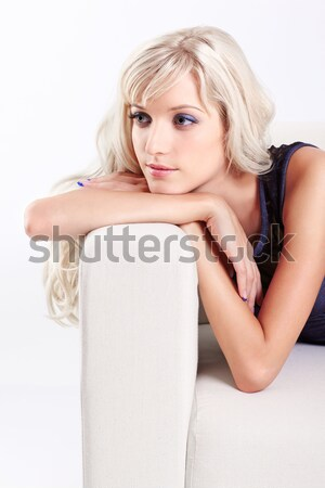 woman with pearl necklace Stock photo © zastavkin