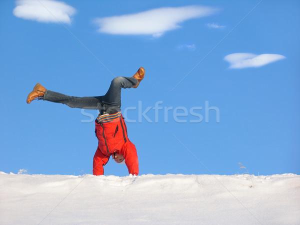 Winter Cartwheel Stock photo © zastavkin