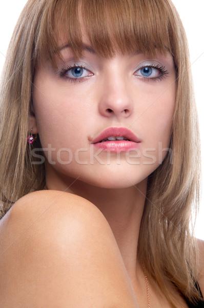 Aantrekkelijk vrouw portret mooie Stockfoto © zastavkin