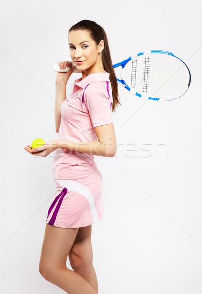 girl tennis player Stock photo © zastavkin