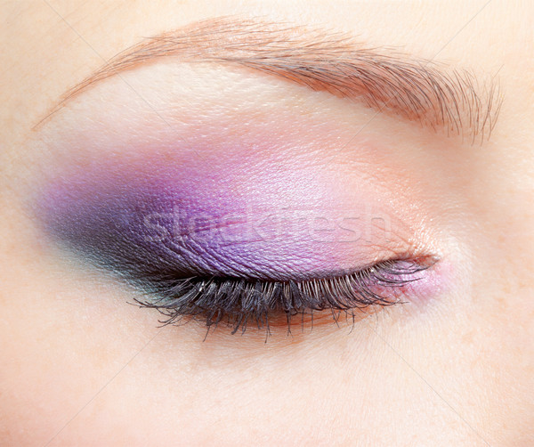 girl's eyezone makeup Stock photo © zastavkin