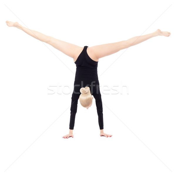 Belle gymnaste isolé portrait jeunes Photo stock © zastavkin