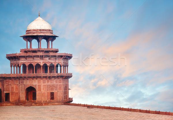 Fort wieża Taj Mahal kompleks szczegół architektoniczny Zdjęcia stock © zastavkin