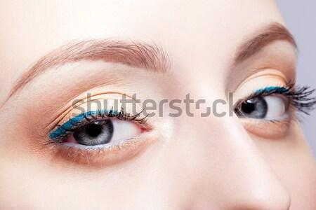 Stok fotoğraf: Kadın · gözler · atış · gün · makyaj