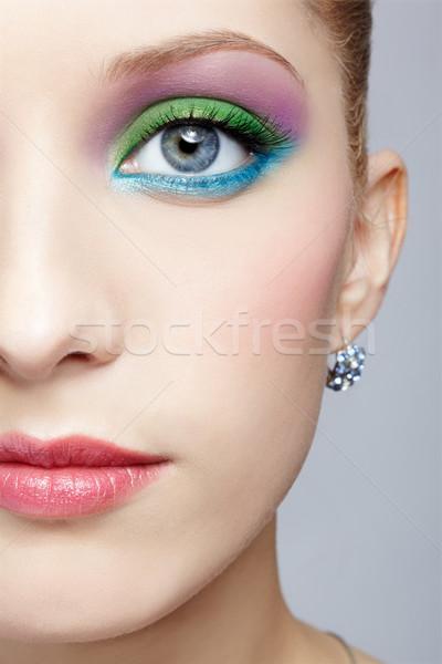 Zdjęcia stock: Piękna · twarz · portret · młoda · kobieta