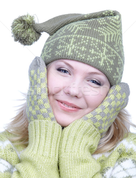 girl in warm clothes Stock photo © zastavkin