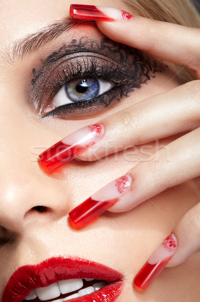 Acrylic nails manicure Stock photo © zastavkin