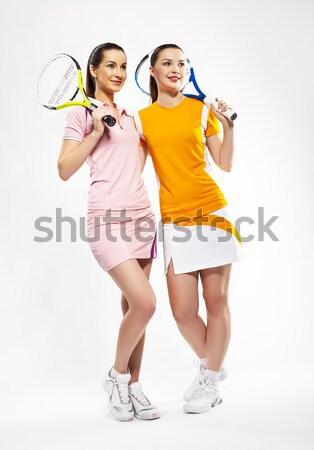 Tennis ritratto due ragazze giocatori Foto d'archivio © zastavkin