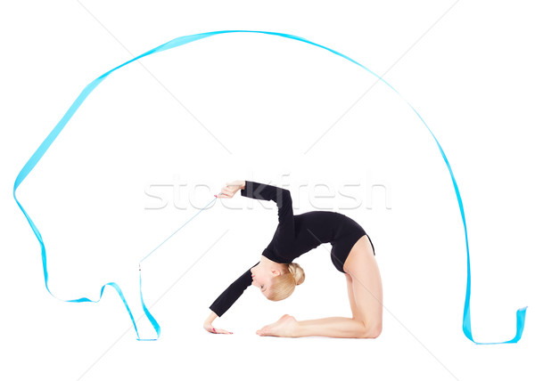 beautiful blonde gymnast Stock photo © zastavkin