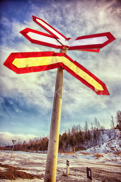road sign Stock photo © zastavkin