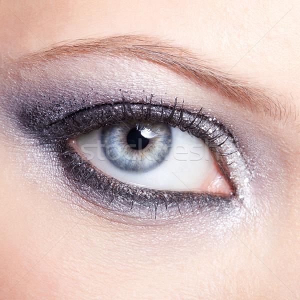 Foto d'archivio: Splendente · donna · occhi · trucco · occhi