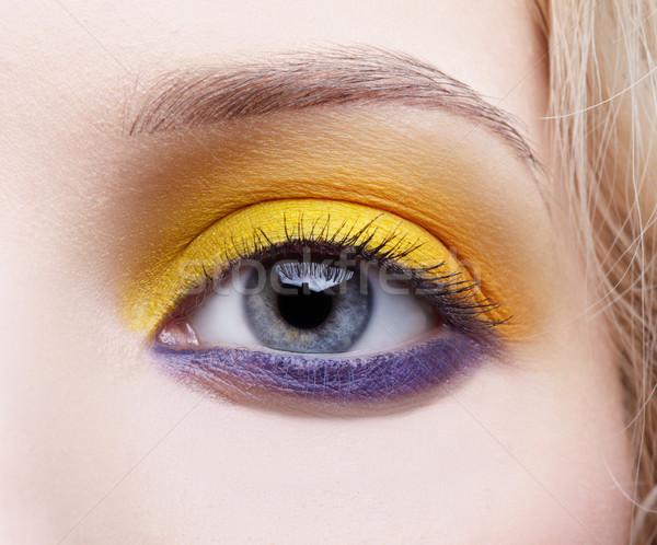 girl's eye-zone make-up Stock photo © zastavkin