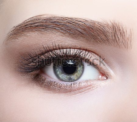 Stock photo: eye zone make up