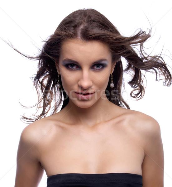 model with flattering hair Stock photo © zastavkin