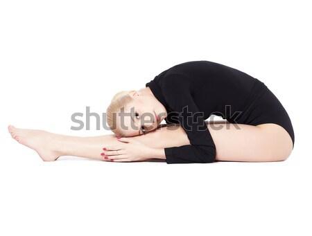 красивой блондинка гимнаст изолированный портрет гибкий Сток-фото © zastavkin