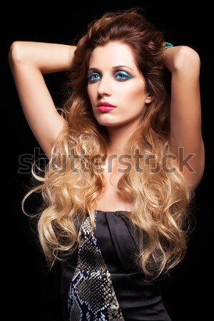 long-haired curly redhead woman Stock photo © zastavkin