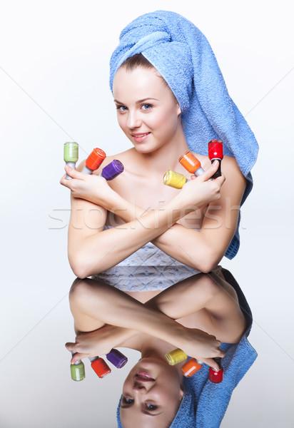 Femme clou jeunes joli spa Photo stock © zastavkin