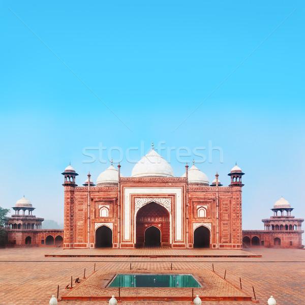 Lato costruzione Taj Mahal uno complesso casa Foto d'archivio © zastavkin