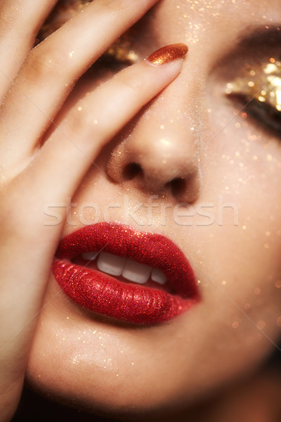 Shining face makeup Stock photo © zastavkin
