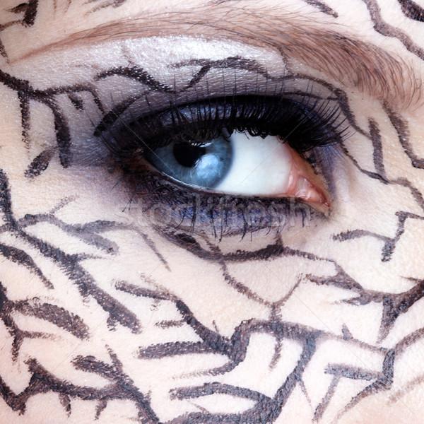 closeup of eyezone bodyart Stock photo © zastavkin