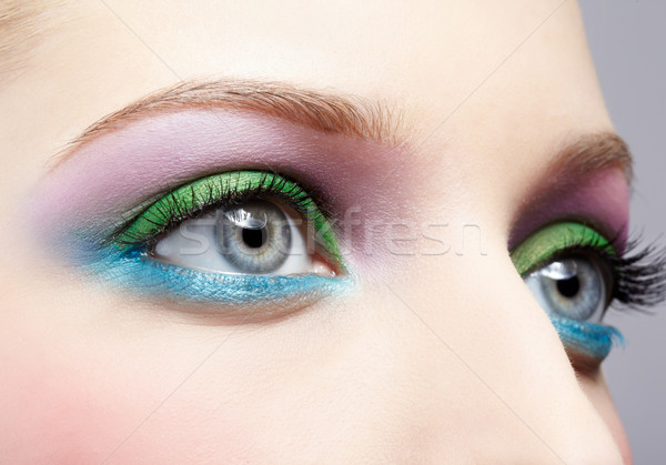Stock photo: eye shadow make up