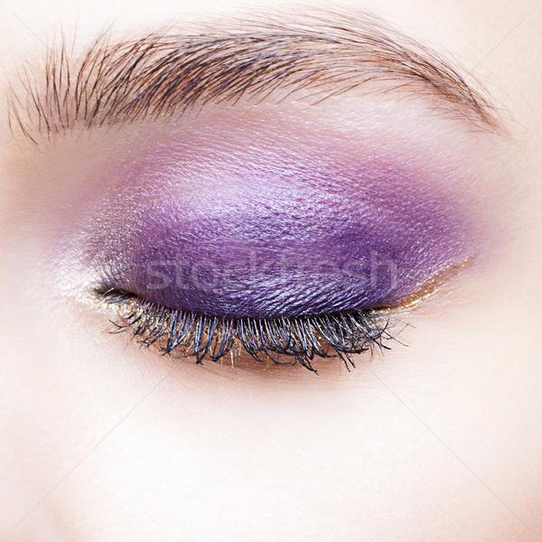 女性 眼 日 化粧 クローズアップ ショット ストックフォト © zastavkin