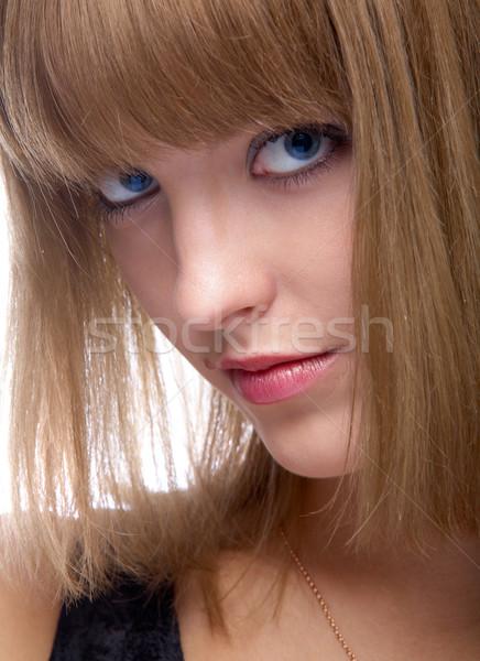 Aantrekkelijk vrouw portret mooie geconcentreerde Stockfoto © zastavkin