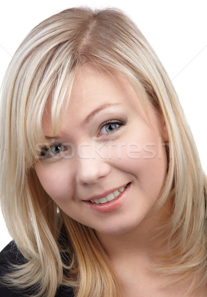 cheerful blonde girl Stock photo © zastavkin