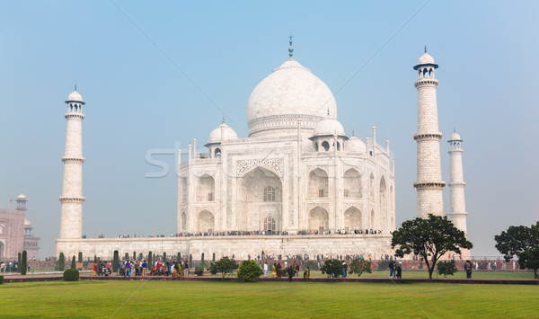 Crowds of tourists around Taj Mahal Stock photo © zastavkin