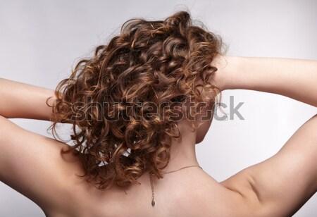 Femme Creative coiffure vue arrière portrait belle Photo stock © zastavkin