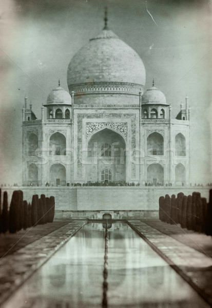 Photo stock: Taj · Mahal · vieux · style · film · photo · Inde