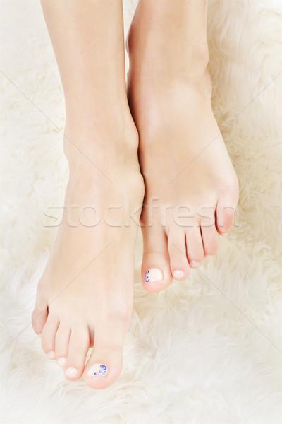 Gesunden Beine erschossen schönen jungen Stock foto © zastavkin