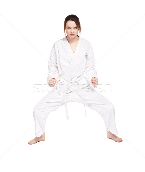 Stock photo: karate girl
