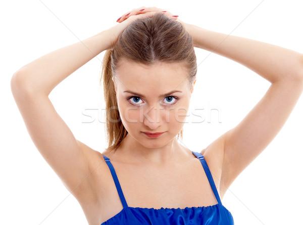 Menina isolado jovem modelo moda olhos Foto stock © zastavkin