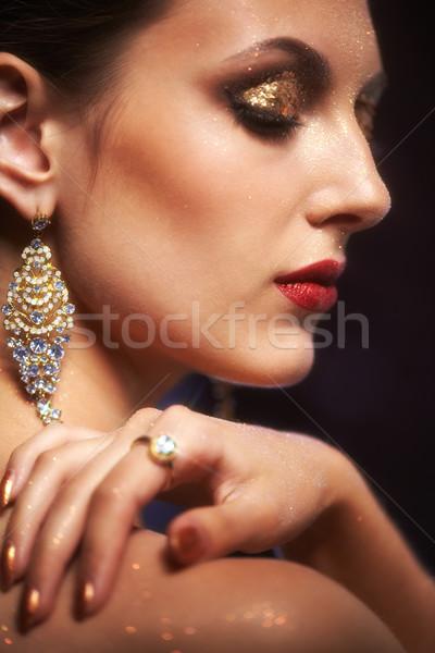 Gezicht make zachte focus portret Stockfoto © zastavkin
