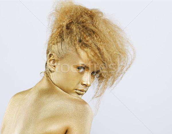 Or fille portrait femme corps modèle Photo stock © zastavkin