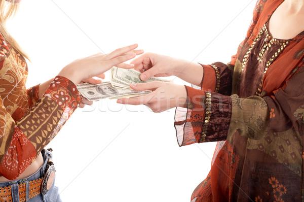 Hands with  money Stock photo © zastavkin