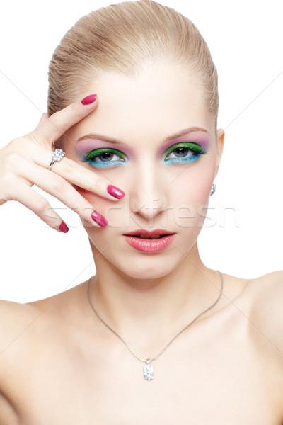 Zdjęcia stock: Piękna · odizolowany · portret · młodych