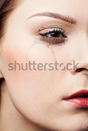 Piękna dziewczyna twarz portret piękna Zdjęcia stock © zastavkin
