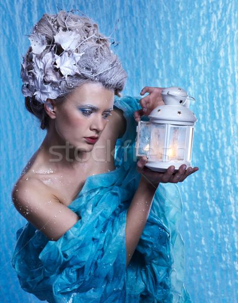 凍結 妖精 ランタン ファンタジー 肖像 美しい ストックフォト © zastavkin