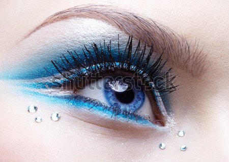 bodyart of eye zone Stock photo © zastavkin